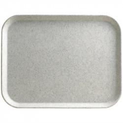 Plateau L 430 x P 330 mm gris moucheté en polyester - Cambro