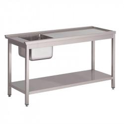 Table de prélavage L 1200 x P 590 x H 850 mm - gauche - pour GL896 - Gastro M GASTRO M Gastro Pret