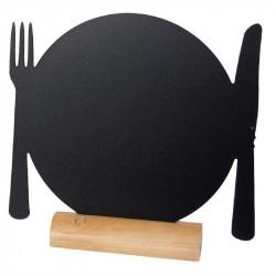 """Lot de 3 silhouettes de tables '' assiettes """" en ardoise - SECURIT"""