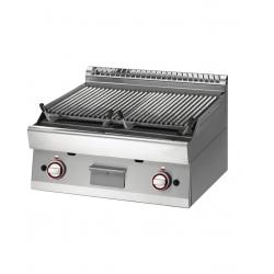 """Grill pierre de lave, GN 1/1 module, grille en fonte """"double face"""" - 2 zones DIAMOND Grills - Charcoals"""