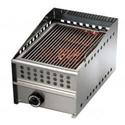 Grill à gaz, surface de cuisson : 350 x 530 mm - brûleur haute qualité Sofraca Grills - Charcoals