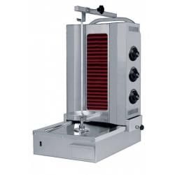 Grill kebab électrique 400 V, 4800 W - capacité max. 60 Kg - Vitrocéramique Sofraca Grills Kebab