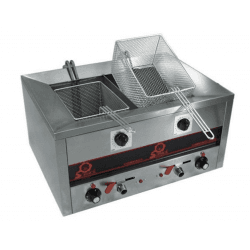 Friteuse double - 400 V, 7000 W - 2 x 7 litres - COMPACT LINE 500 Sofraca Friteuses à poser