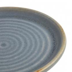 Lot de 6 assiettes plates Ø 180 mm, bleu granit - CANVAS OLYMPIA Collection Canvas