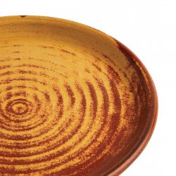 Lot de 6 assiettes plates Ø 180 mm, terre de sienne - CANVAS OLYMPIA Collection Canvas