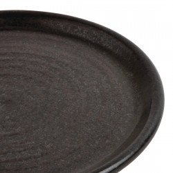 Lot de 6 assiettes plates Ø 180 mm, noir mat - CANVAS OLYMPIA Collection Canvas