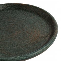 Lot de 6 assiettes plates Ø 180 mm, vert bronze - CANVAS OLYMPIA Collection Canvas