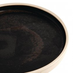 Lot de 6 assiettes plates à bord droit Ø 180 mm, noir mat - CANVAS OLYMPIA Collection Canvas
