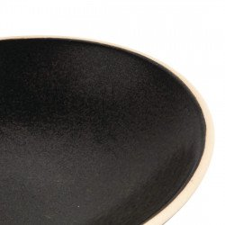 Lot de 6 assiettes creuses Ø 200 mm, noir mat - CANVAS OLYMPIA Collection Canvas