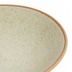Lot de 6 assiettes creuses Ø 200 mm, beige moucheté - CANVAS OLYMPIA Collection Canvas