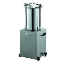Poussoir électrique 15 Litres - 4 canules Ø 10 / 18 / 25 mm - inox  MATERIEL ALIMENTAIRE PRODUCTION Poussoirs à saucisses