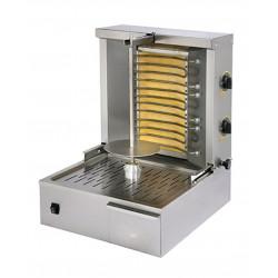 Grill kebab électrique, 2 zones - 12 à 15 Kg de viandes