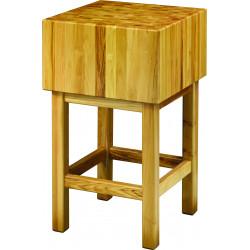 Billot L 700 x P 700 x H 900 mm, en bois d'acacia   Billots