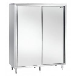Armoire haute L 1400 x P 700 mm - 2 portes - inox Bartscher Armoires Hautes