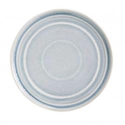 Lot de 6 assiettes plates Ø 220 mm, bleu crystallin - cavolo OLYMPIA Collection Cavolo
