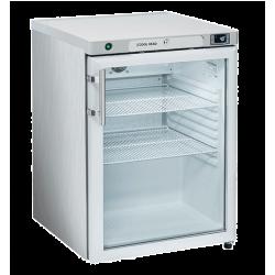 Réfrigérateur 200 litres vertical, une porte vitrée - inox COOL HEAD Armoires vitrées