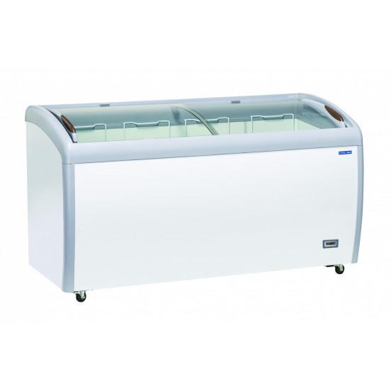Congelateur Coffre 500 Litres Couvercle Superieur Vitre Coulissan