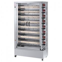 Rôtissoire électrique, 8 broches, 40 à 48 poulets - EKO FECA Rôtissoires