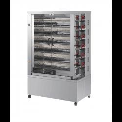 Rôtissoire double, électrique vitro-céramique, 11 broches, 55 à 66 poulets - DOBLE EKO FECA Rôtissoires