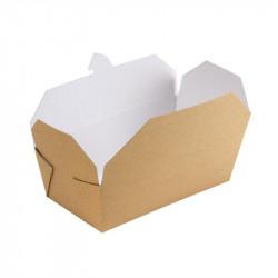 250 Cartons alimentaires rectangulaires kraft  Accueil