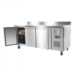Table réfrigérée positive GN - 3 portes P 700 mm avec dosseret POLAR Tables et soubassements