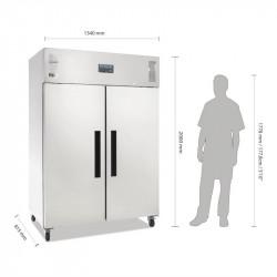Armoire réfrigérée 1200 Litres positive 2 portes inox