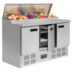 Comptoir de préparation 390 Litres réfrigéré, 3 portes compatible GN POLAR Comptoirs de préparation