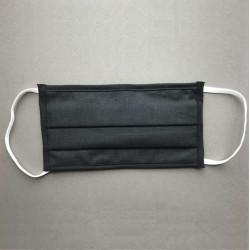 Masque de protection 3 plis lavable catégorie 1 - Noir