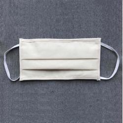 Masque de protection 3 plis lavable catégorie 1 - Blanc