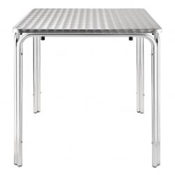 Table bistro tableau inox 70cm empilable
