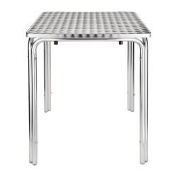 Table carrée empilable Bolero en acier inoxydable - 60cm