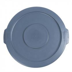 Couvercle poubelle ronde Rubbermaid - gris - 37L