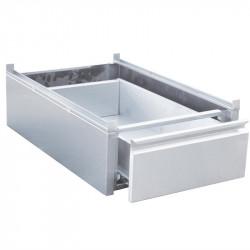 Tiroir à monter L 450 x P 580 x H 180 mm inox - sur table Gastro M