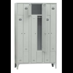 Armoire/Vestiaires 3 colonnes, 6 casiers, acier