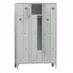 Armoire/Vestiaires 3 colonnes, 6 casiers, acier EQUIPEMENT DIRECT Casiers / Vestiaires