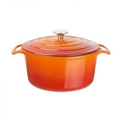 Cocotte ronde 4 Litres, orange, Vogue