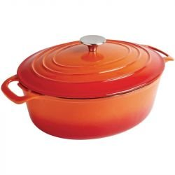 Cocotte 5 Litres ovale, orange, Vogue