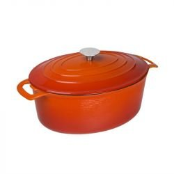 Cocotte 6 Litres ovale, orange, Vogue