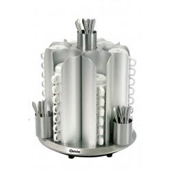 Chauffe tasses rotatif, 48 tasses max, aluminium Bartscher Chauffes Tasses