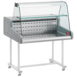 Vitrine réfrigérée vitre bombée (L) 1000 mm, à poser