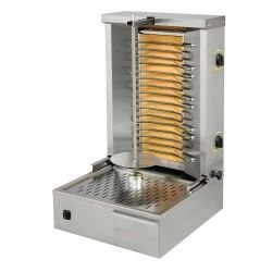 Grill kebab électrique, 3 zones - 22 à 25 Kg de viandes