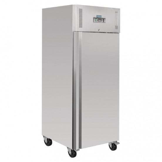Réfrigérateur PRO 1 porte tout inox 600 litres ouvert