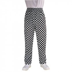 Easyfit pantalon confort motif grands carreaux noirs & blancs