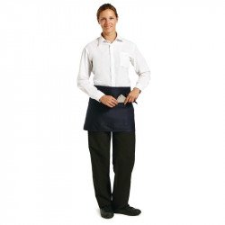 Tablier bistro court - bleu marine UNIFORM WORKS Tabliers