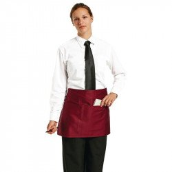 Tablier bistro court - bordeaux UNIFORM WORKS Tabliers