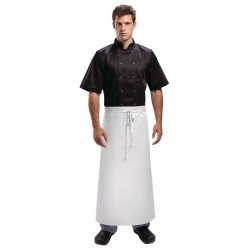 Tablier de serveur extra long blanc avec attaches - 91 x 91 cm WHITES CHEFS APPAREL Tabliers