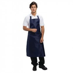 Tablier bavette polyester & coton bleu marine WHITES CHEFS APPAREL Tabliers
