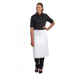 Tablier bistro 70x100cm (longueur) blanc UNIFORM WORKS Tabliers
