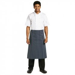 Tablier à rayures - 760 x 910mm WHITES CHEFS APPAREL Tabliers