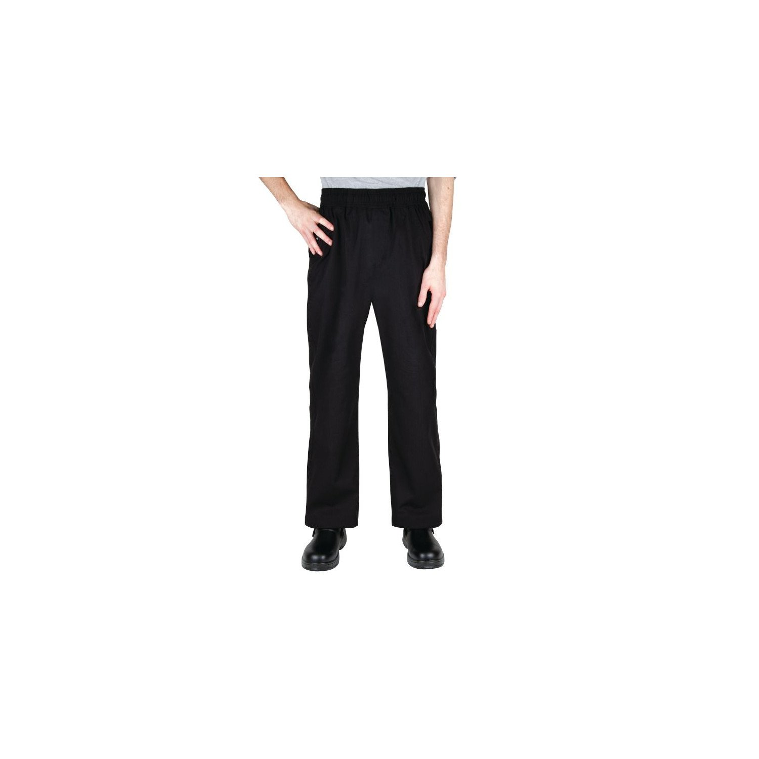 "Pantalon ""Baggy"" noir M CHEF WORKS Nisbets Vêtements"